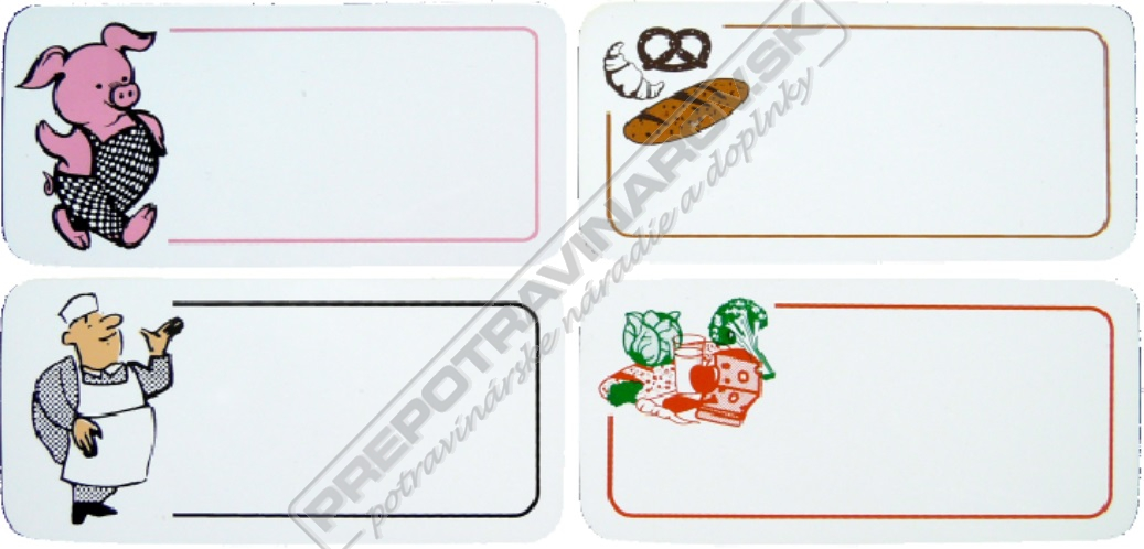Cenovky z bielej PVC fólie 0,4 mm