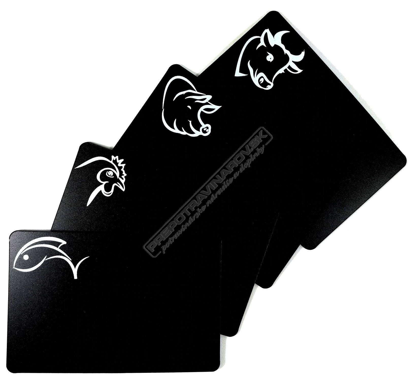 Cenovky z čiernej PVC fólie 0,4 mm